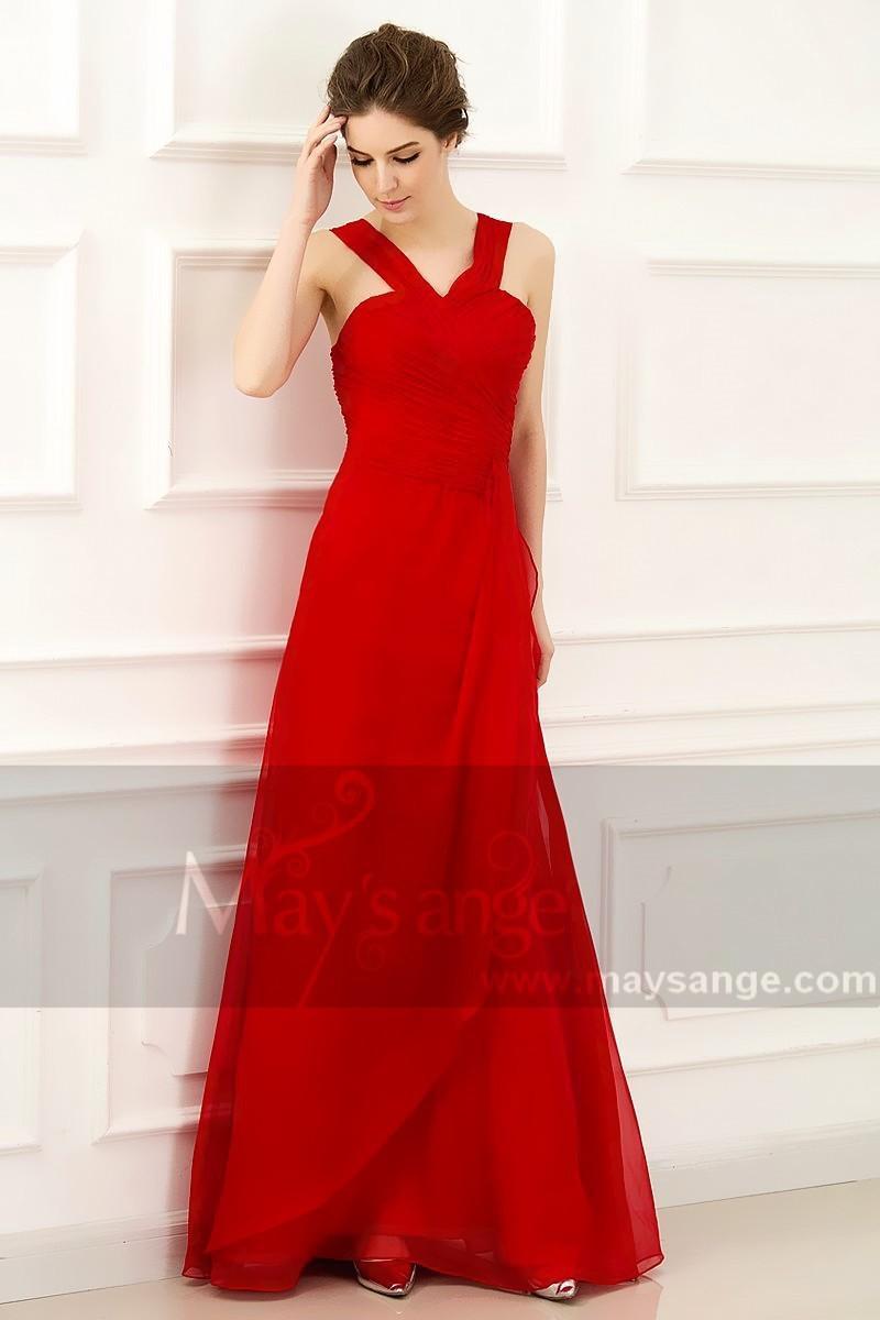 Robe de soirée rouge pas cher
