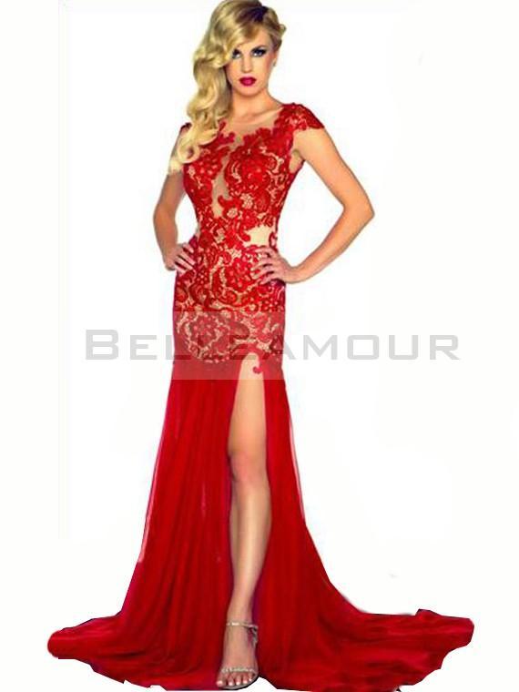 Robe de soirée rouge sexy