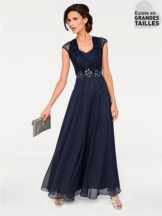 Robe de soiree bleu nuit