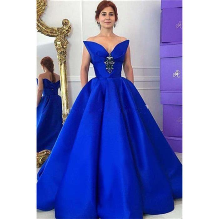 Robe de soiree bleu roi