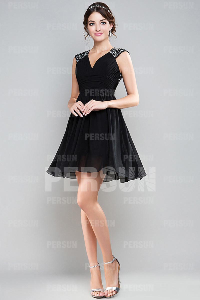 Robe de soiree noir courte