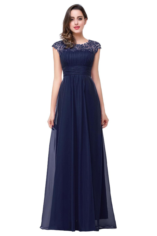 Robe demoiselle d'honneur bleu marine