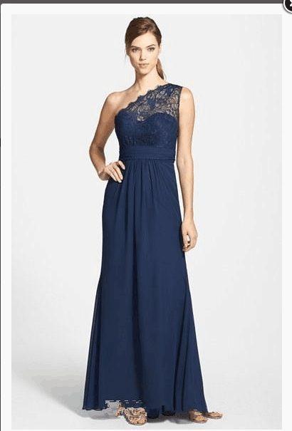 Robe demoiselle d'honneur bleu nuit