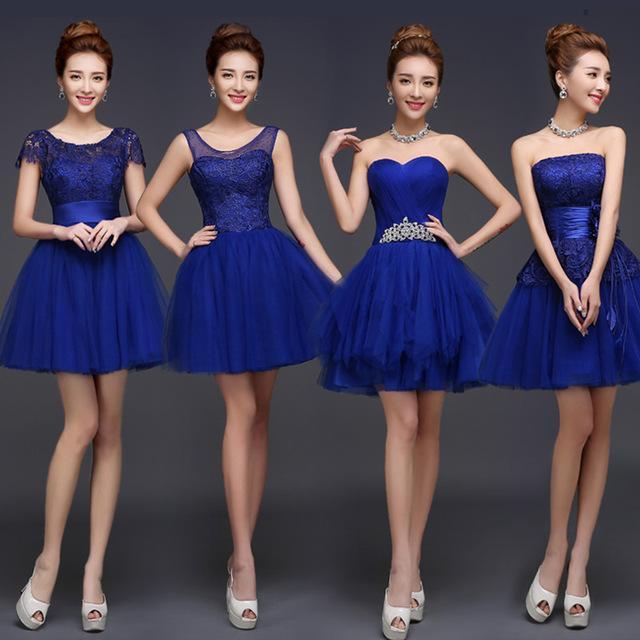 Robe demoiselle d'honneur bleu roi