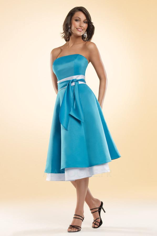 Robe demoiselle d'honneur bleu turquoise