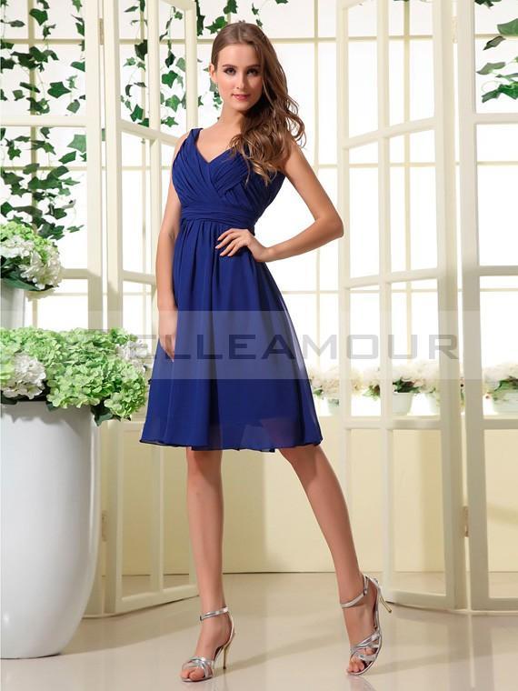 Robe demoiselle d'honneur bleu