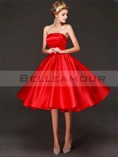 Robe demoiselle d'honneur rouge pas cher