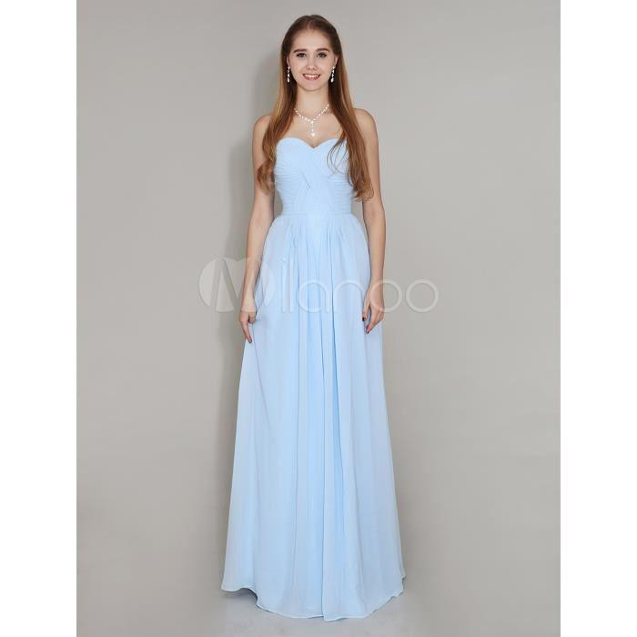 Robe demoiselle d honneur bleu ciel