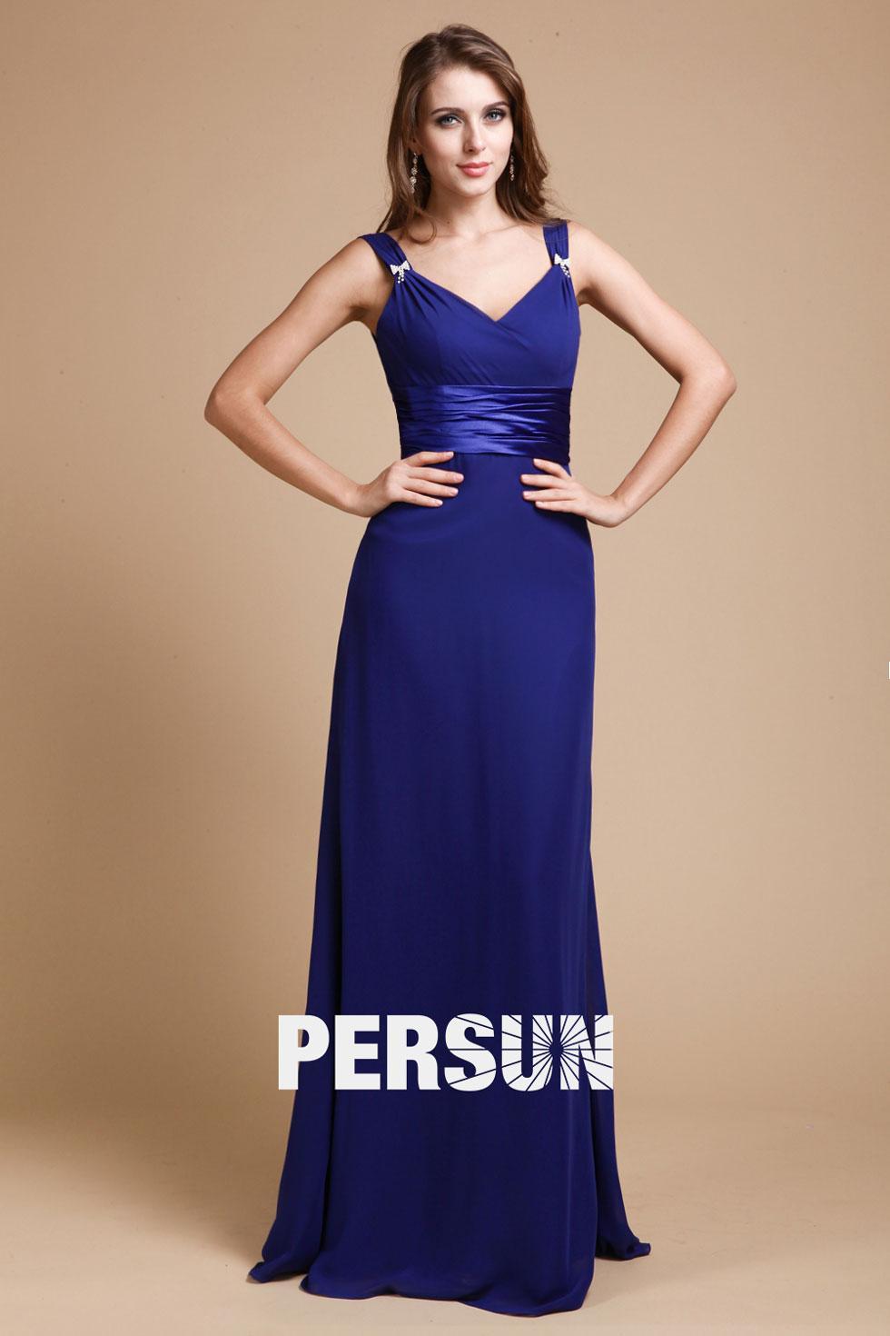 Robe demoiselle d honneur bleu roi