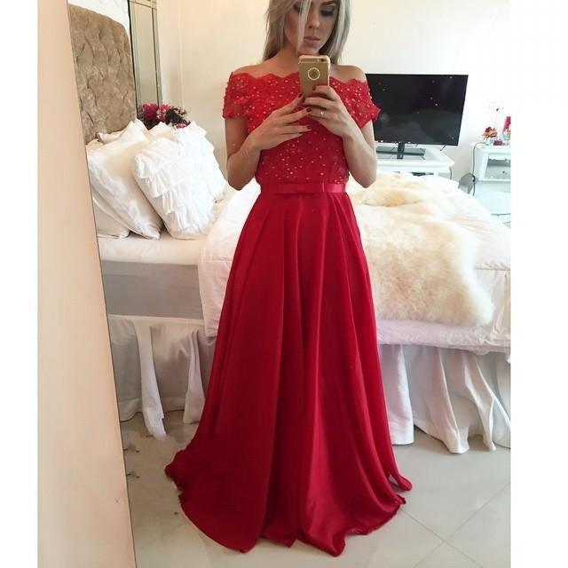 Robe demoiselle d honneur rouge pas cher