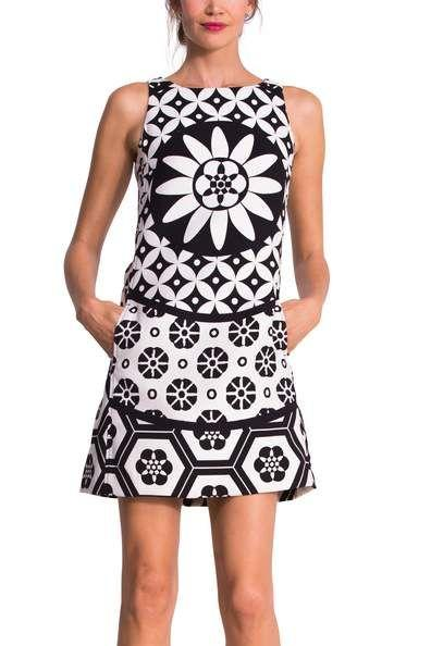Robe desigual noir et blanche