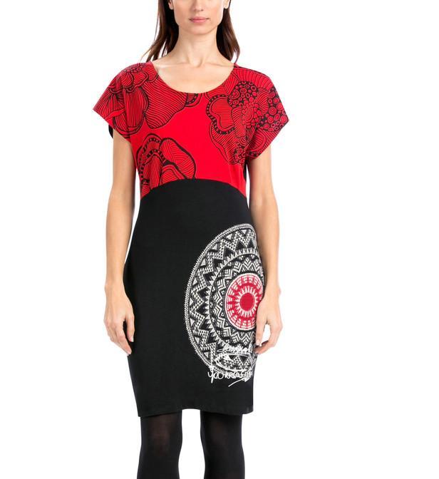 Robe desigual rouge et noir