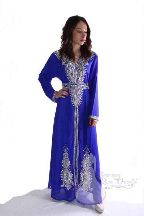Robe dubai bleu electrique