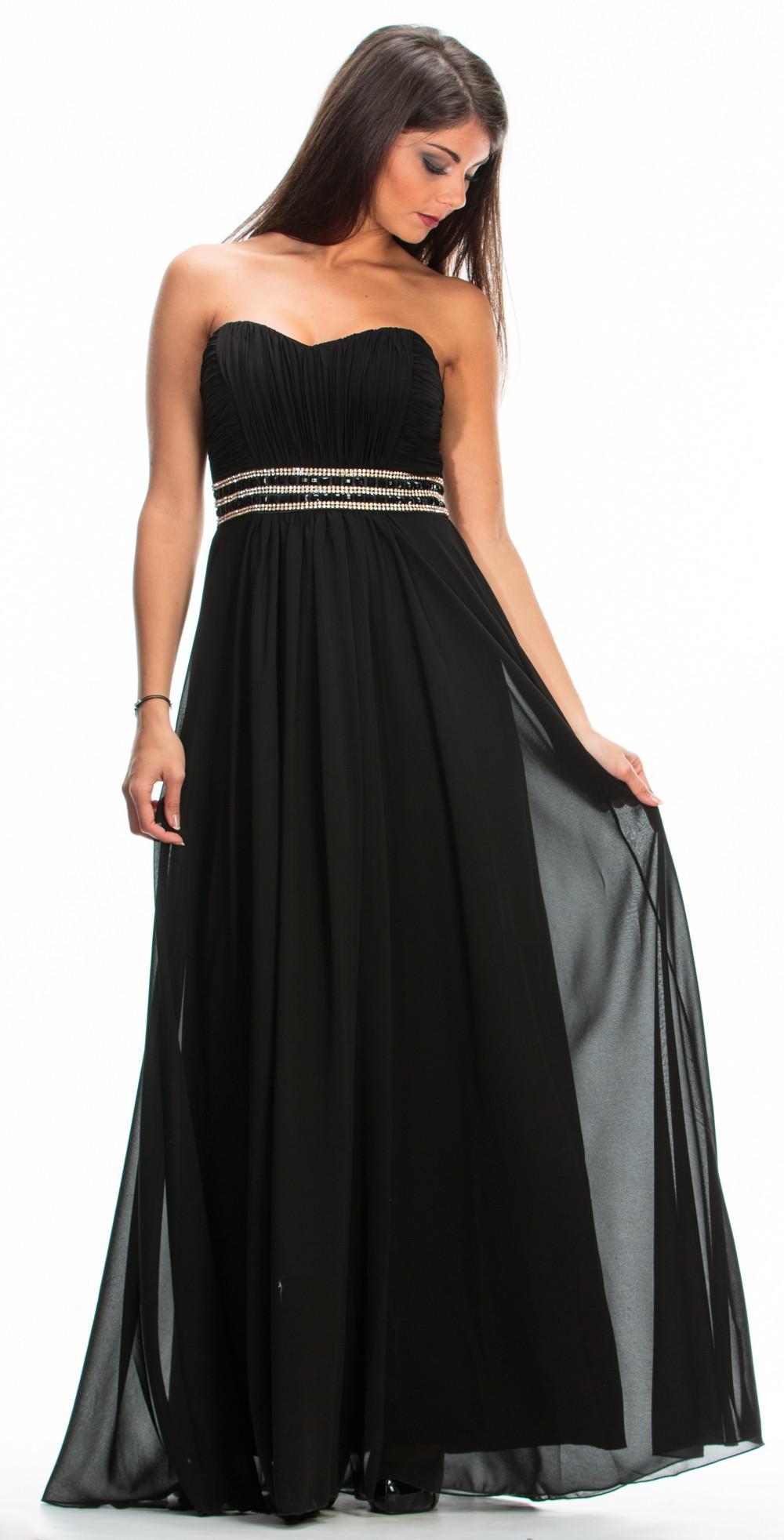 Robe empire noir