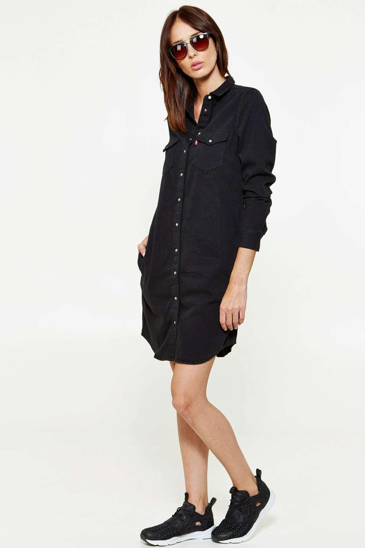 Robe en jean noir