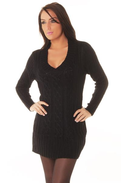 Robe en laine noir