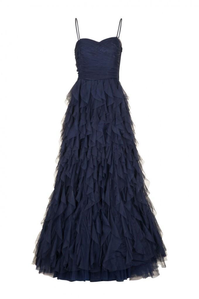 Robe enchanteresse naf naf bleu nuit
