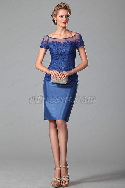 Robe femme bleu roi