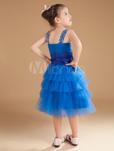 Robe fille bleu roi