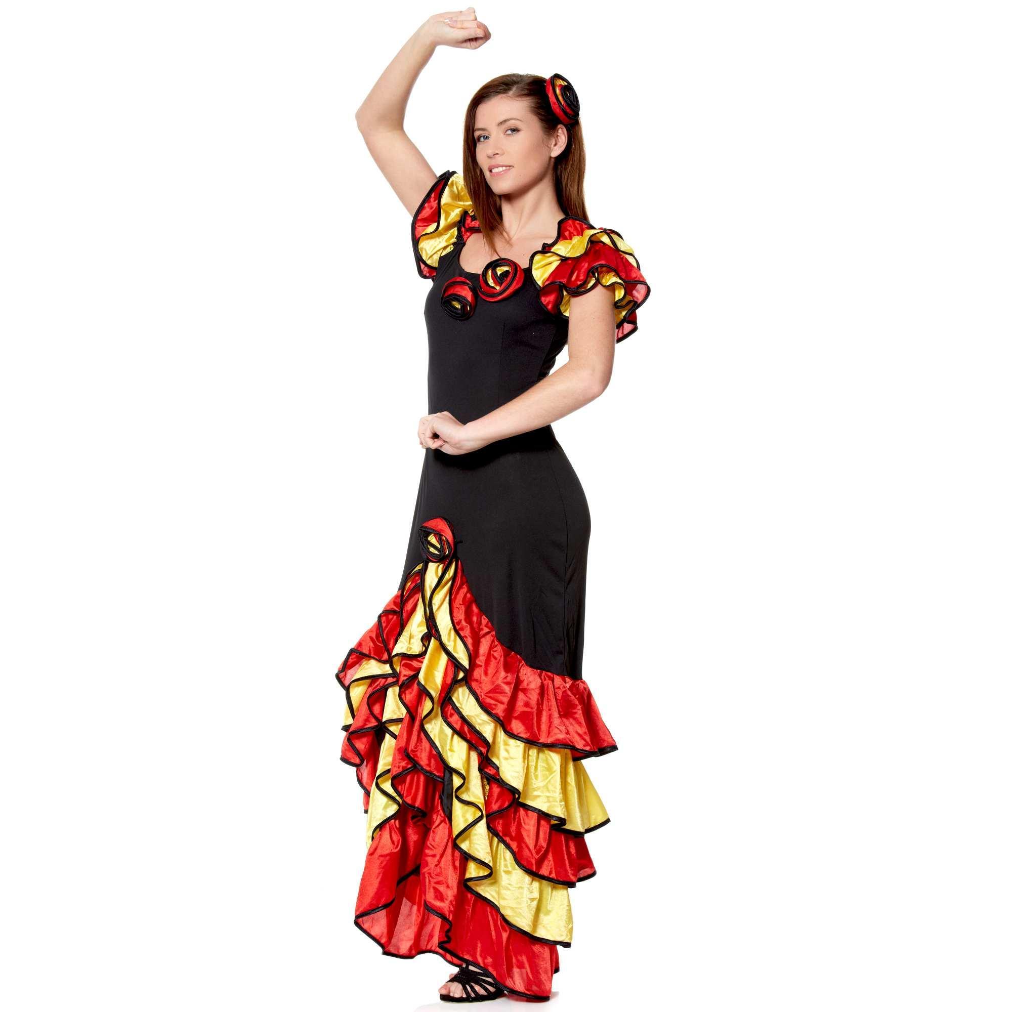 Robe flamenco rouge