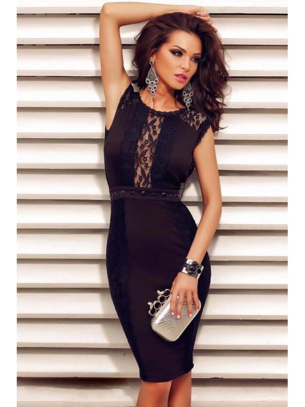 Robe glamour noir