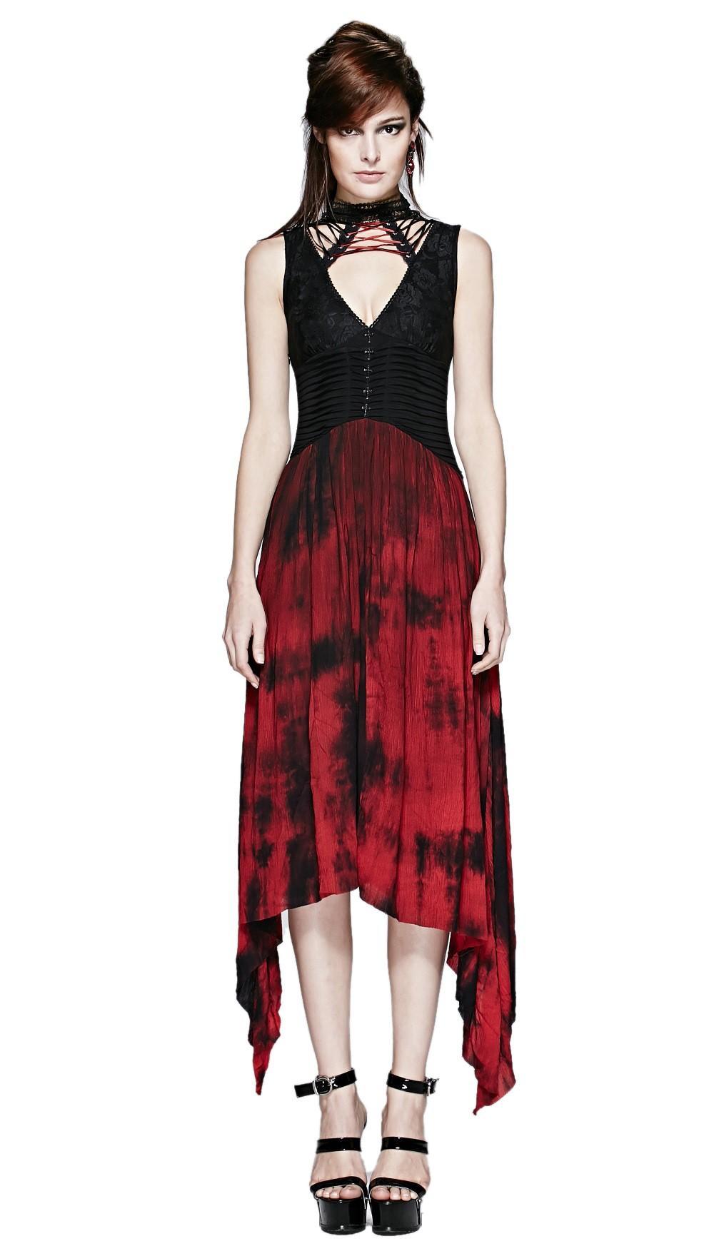 Robe gothique rouge