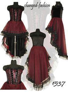 Robe gothique victorienne rouge