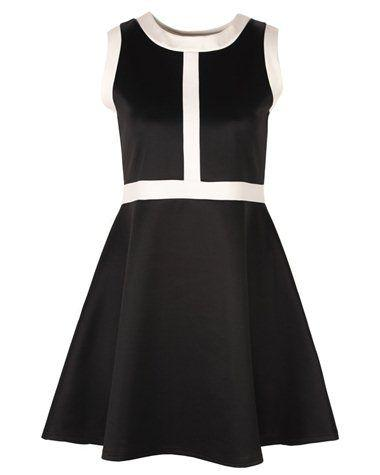Robe grande taille noir et blanc