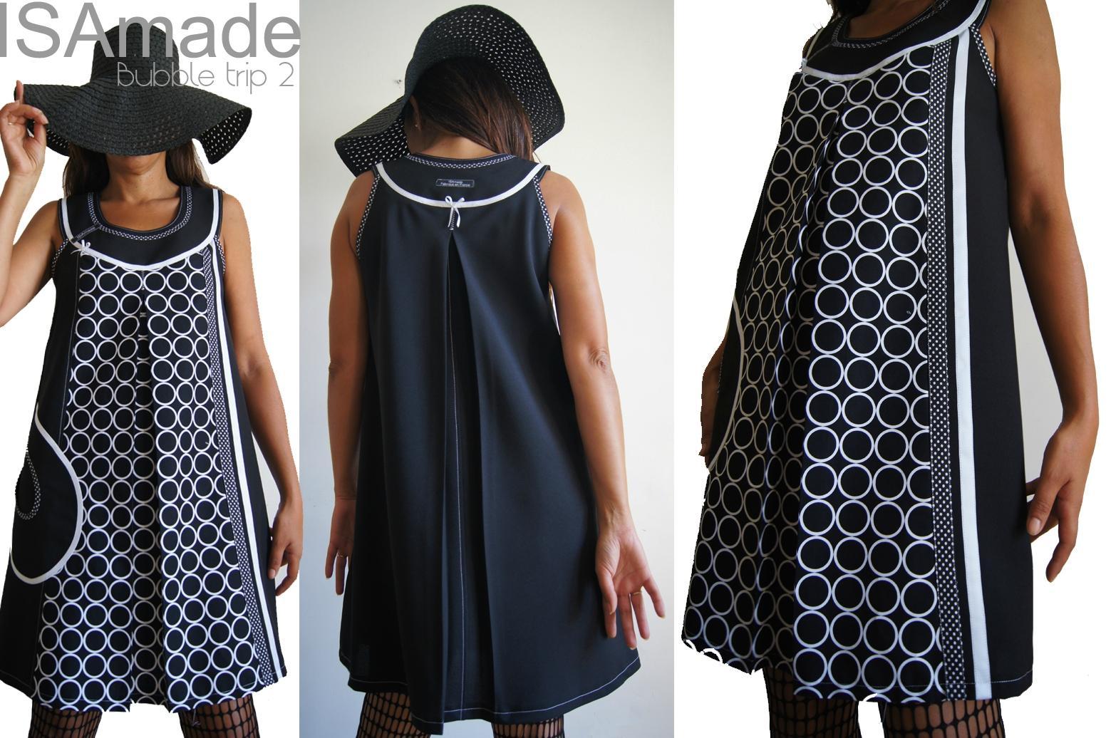 Robe graphique noir et blanc