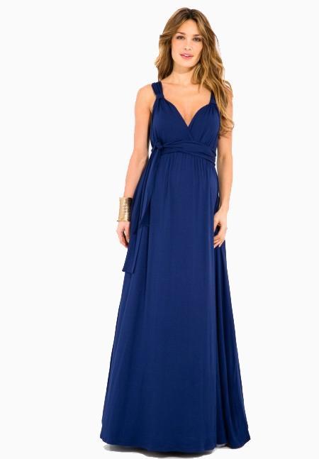 Robe grossesse bleu