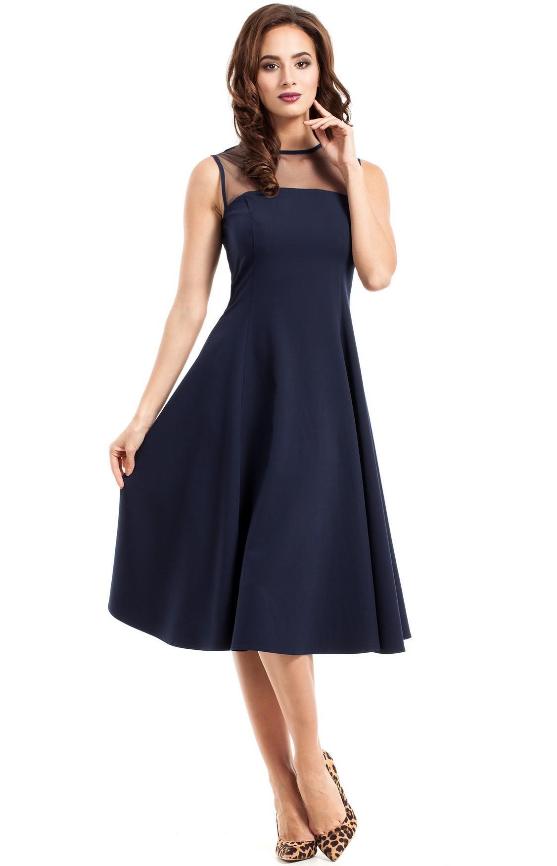 Robe habillée bleu marine
