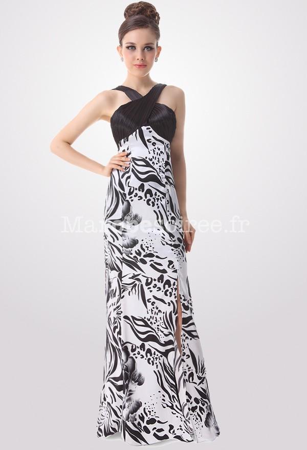 Robe imprimée noir et blanc