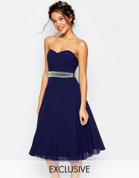 Robe invité mariage bleu