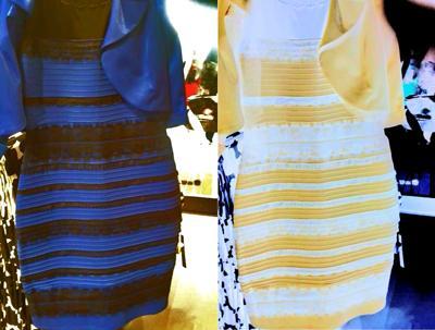 Robe jaune bleu