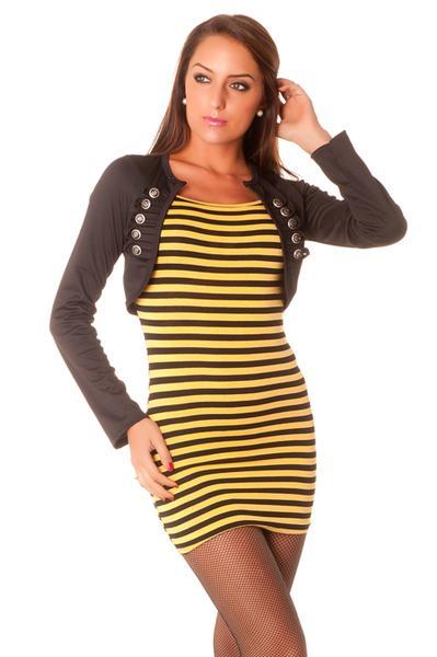 Robe jaune et noir