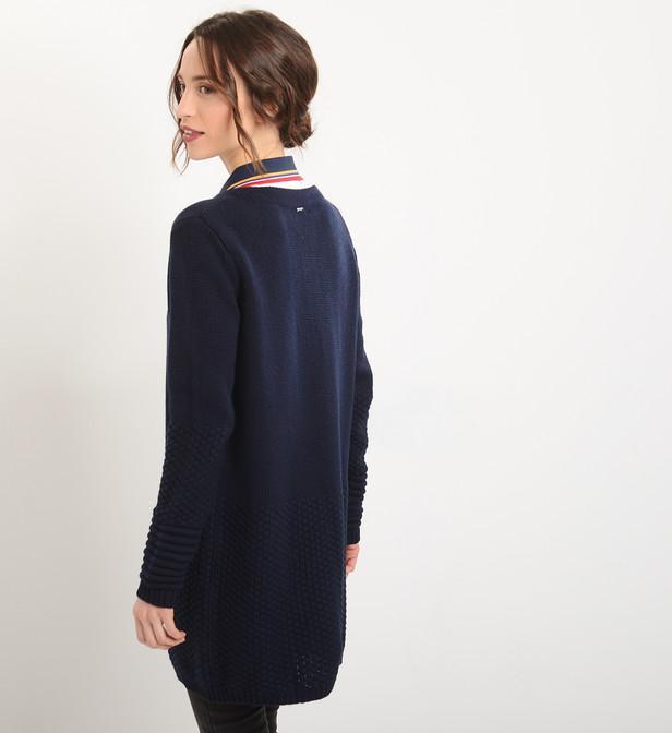 Robe laine bleu marine