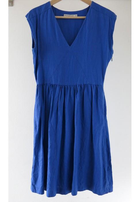 Robe lin bleu