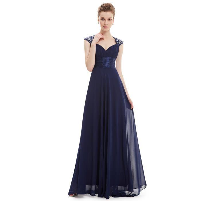 Robe longue bleu marine mariage