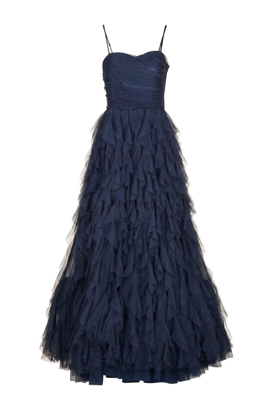 Robe longue bleu marine naf naf