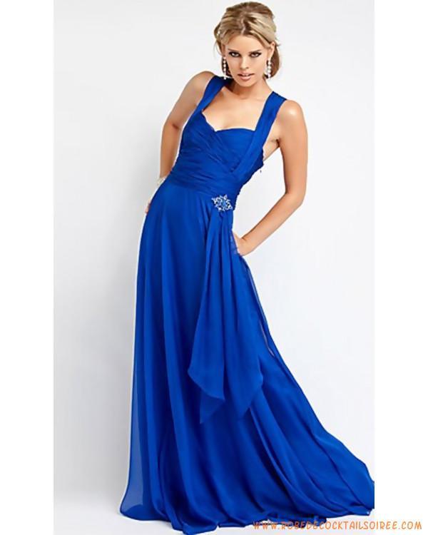 Robe longue bleu pas cher