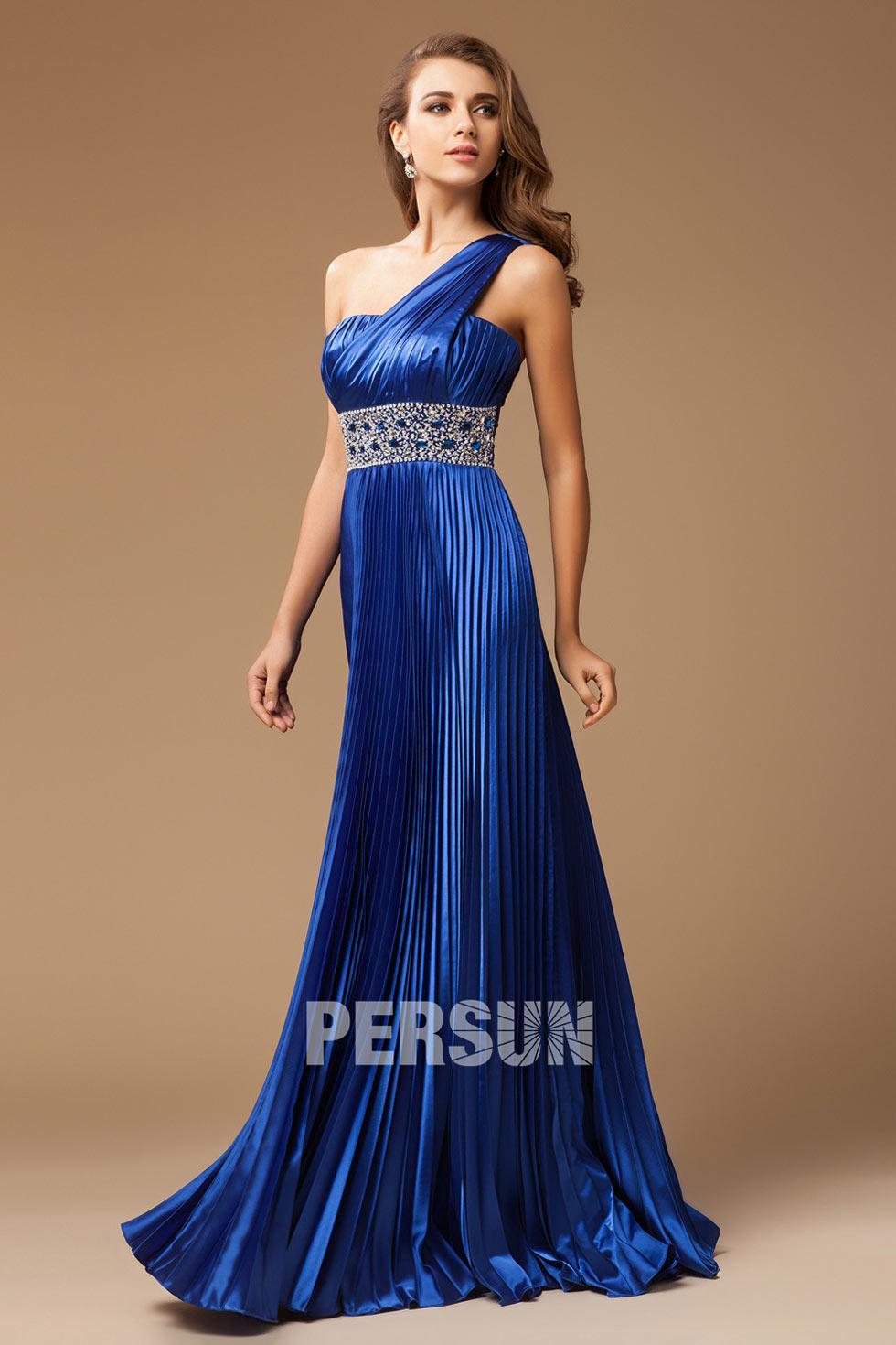 Robe longue bleu roi