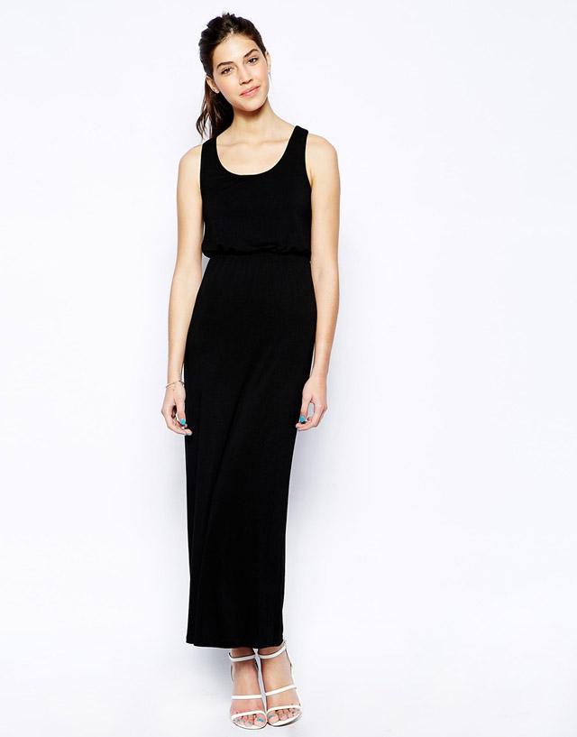 Robe longue debardeur noir