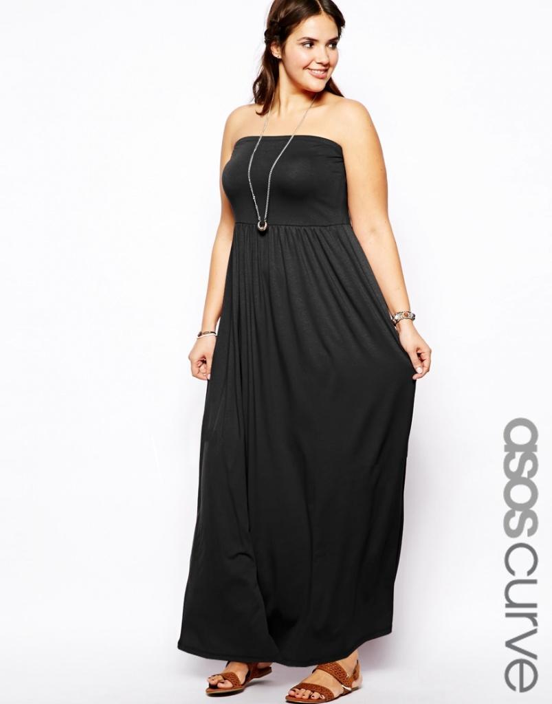 Robe longue noir bustier