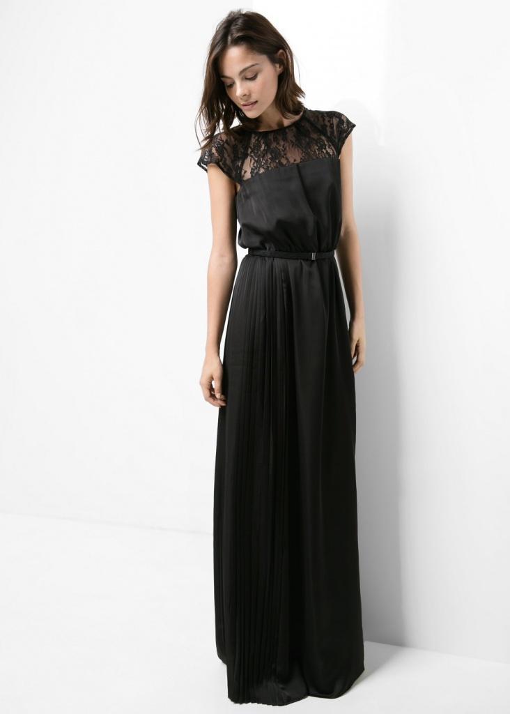 Robe longue noir mango