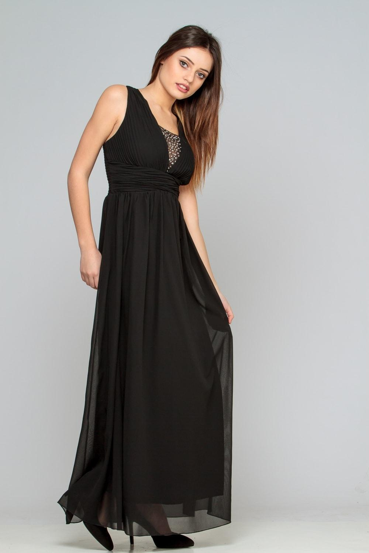 Robe longue noir pas cher