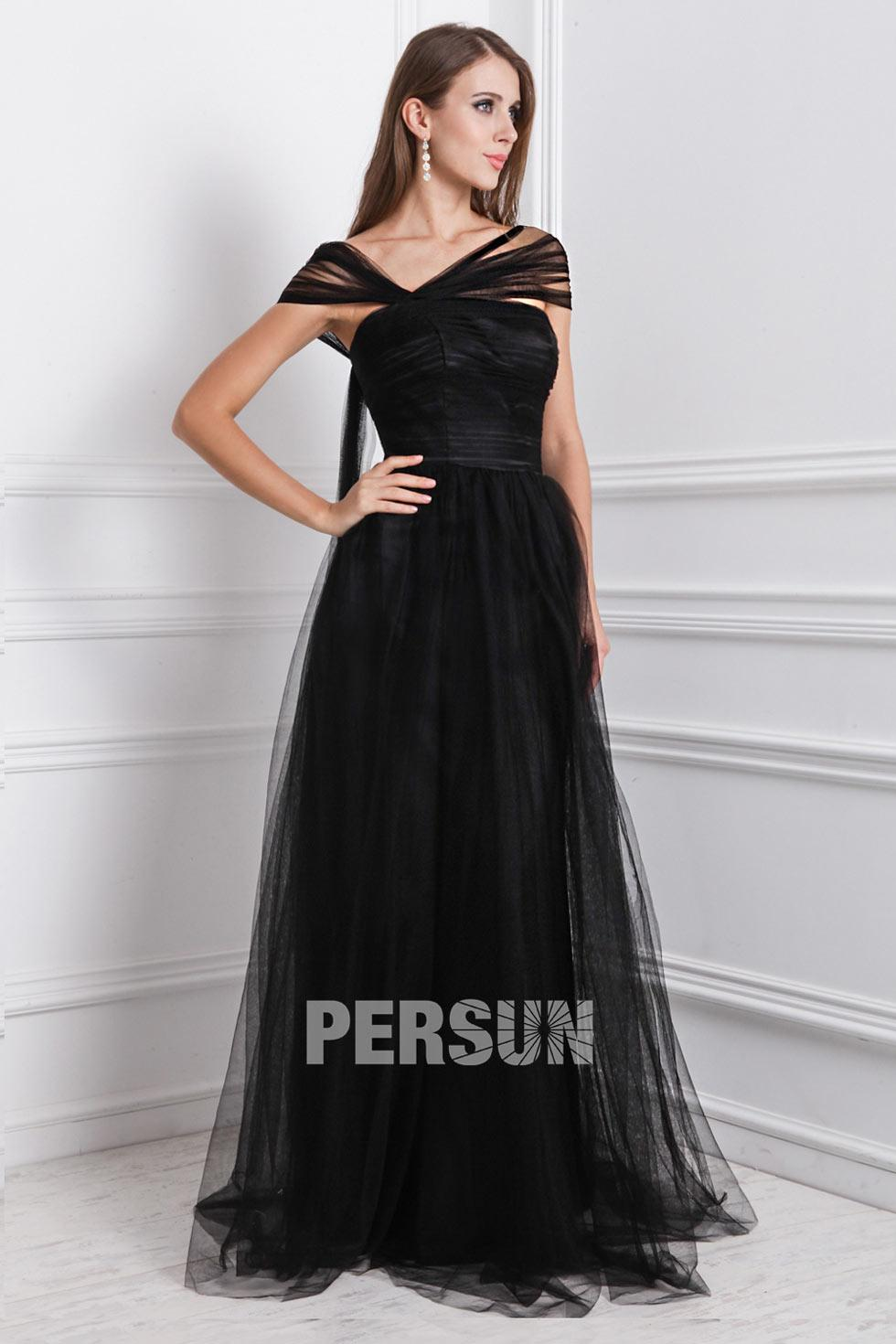 Robe longue noir soiree