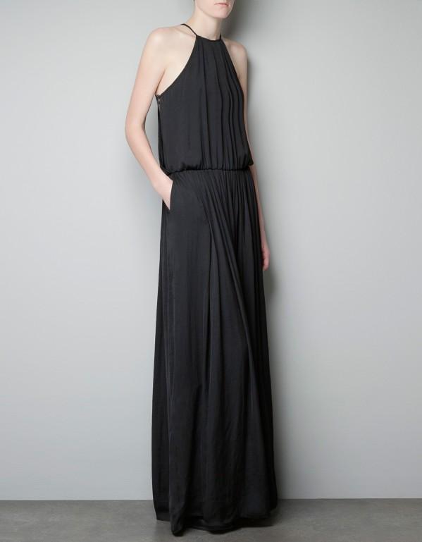 Robe longue noir zara