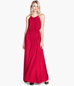 Robe longue rouge h&m