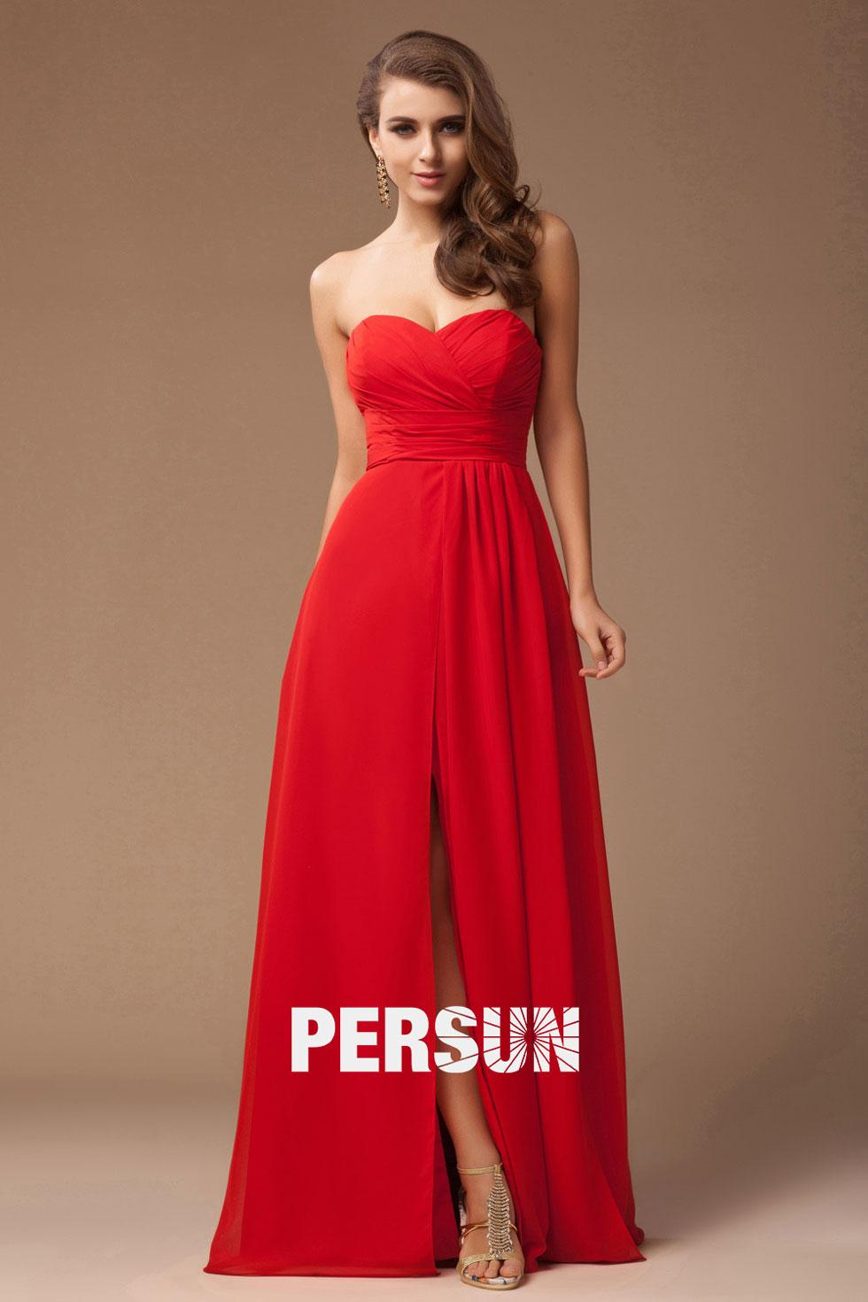 Robe longue rouge soirée