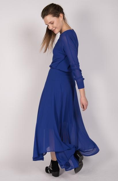 Robe maje bleu electrique